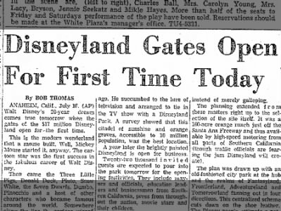 Disneyland Opens its Gates