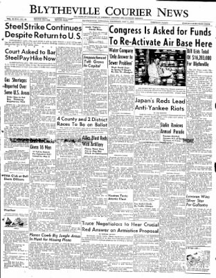 The Courier News from Blytheville, Arkansas on May 1, 1952 · Page 1