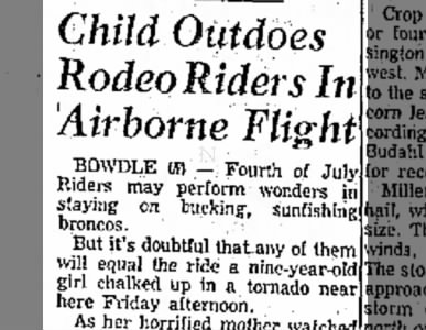 Child Outdoes Rodeo Riders