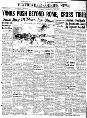 The Courier News from Blytheville, Arkansas on June 5, 1944 · Page 1