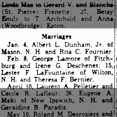 lester lafountaine wed