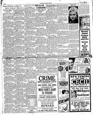 The Mason City Globe-Gazette from Mason City, Iowa on March 14, 1934 · Page 4
