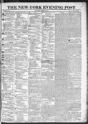 The Evening Post from New York, New York on March 12, 1818 · Page 1