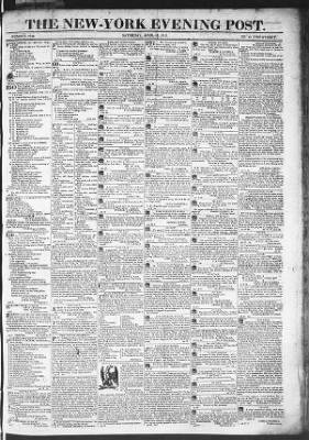 The Evening Post from New York, New York on April 18, 1818 · Page 1