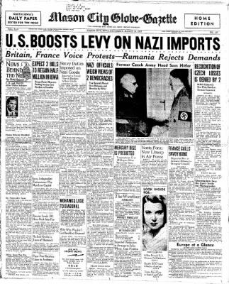 The Mason City Globe-Gazette from Mason City, Iowa on March 18, 1939 · Page 1