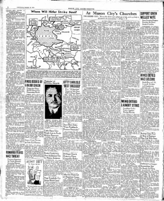 The Mason City Globe-Gazette from Mason City, Iowa on March 18, 1939 · Page 2