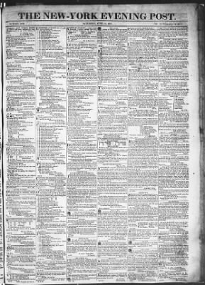 The Evening Post from New York, New York on June 13, 1818 · Page 1