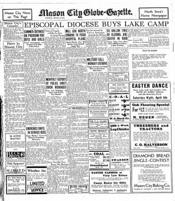 The Mason City Globe-Gazette from Mason City, Iowa on April 3, 1931 · Page 11