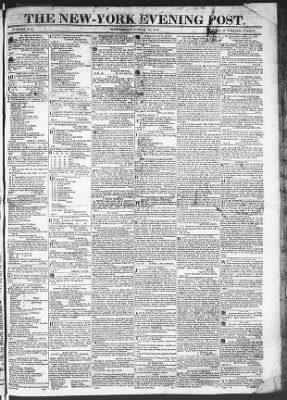 The Evening Post from New York, New York on August 12, 1818 · Page 1