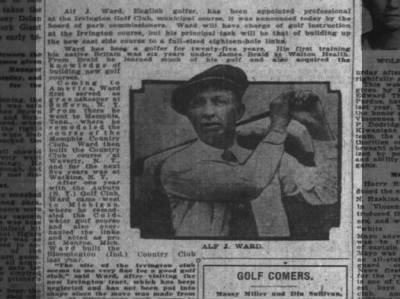 Alf J Ward appointed pro at Irvington, The Indianapolis News, 23 March 1923, p34.