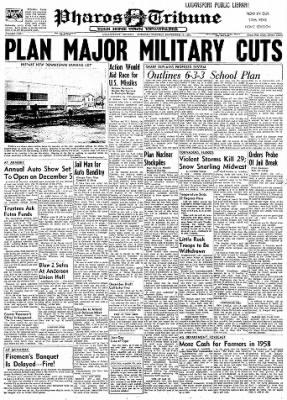 Logansport Pharos-Tribune from Logansport, Indiana on November 19, 1957 · Page 1