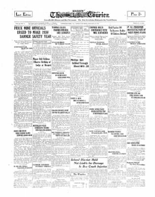 The Daily Courier from Connellsville, Pennsylvania on January 27, 1930 · Page 1