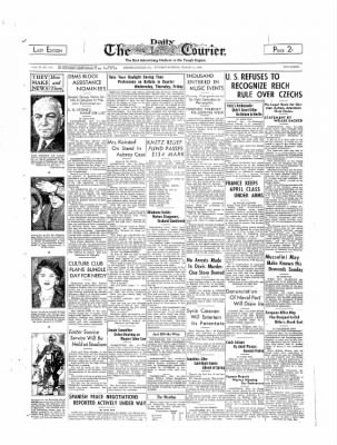 The Daily Courier from Connellsville, Pennsylvania on March 21, 1939 · Page 1