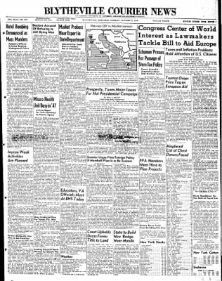 The Courier News from Blytheville, Arkansas on January 6, 1948 · Page 1