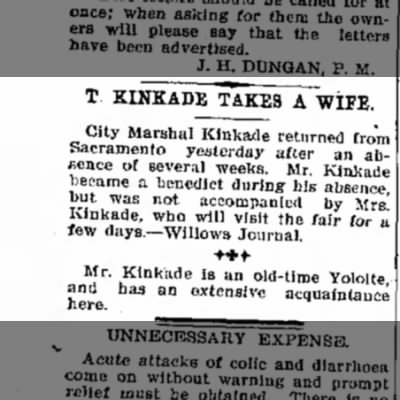 T. Kinkade marriage