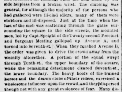 Newspaper recounts the events of the riot
