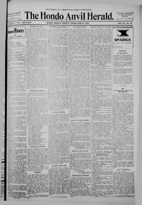 The Hondo Anvil Herald from Hondo, Texas on June 17, 1938 · Page 1