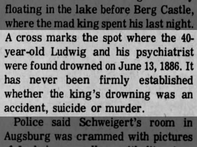 Ludwig's mysterious death