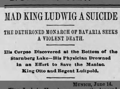 Mad King Ludwig a Suicide