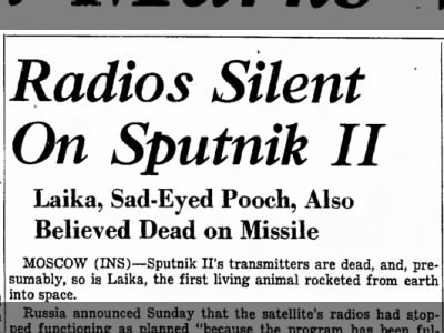 Sputnik II program ends