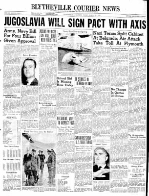The Courier News from Blytheville, Arkansas on March 21, 1941 · Page 1