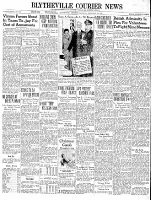 The Courier News from Blytheville, Arkansas on November 25, 1939 · Page 1