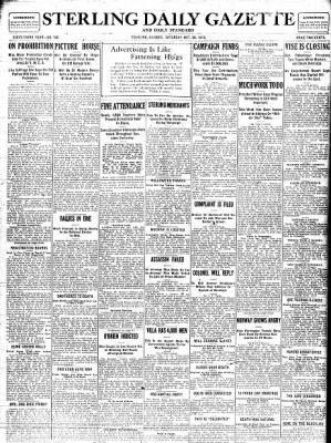 Sterling Standard from Sterling, Illinois on October 28, 1916 · Page 1