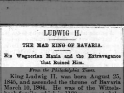 The Mad King of Bavaria