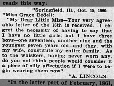 Lincoln's Letter