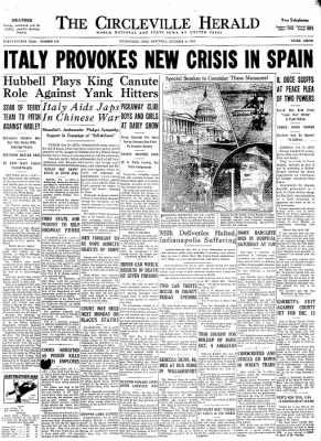 Image result for october 9, 1937 herald