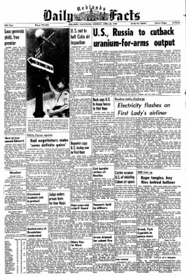Redlands Daily Facts from Redlands, California on April 20, 1964 · Page 1