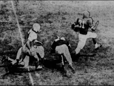 1961 Shrine Bowl score by Gale Sayers