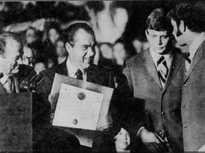1971 Nixon, Devaney, Schneiss, Murtaugh