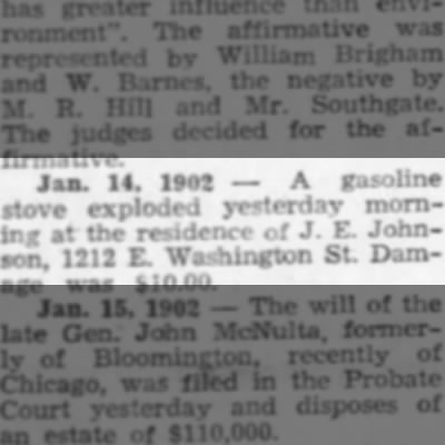 1212 E Washington - gas stove explosion (1902) J.E. Johnson