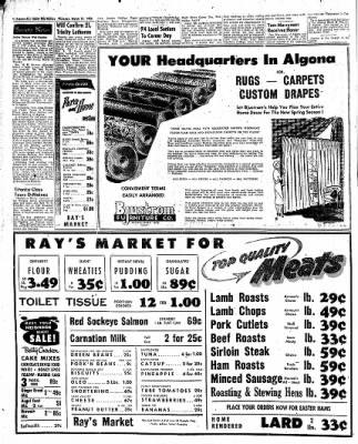 The Algona Upper Des Moines from Algona, Iowa on March 31, 1955 · Page 2