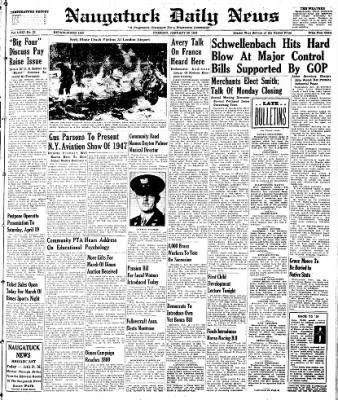 Naugatuck Daily News from Naugatuck, Connecticut on January 28, 1947 · Page 1
