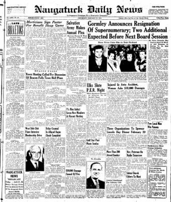Naugatuck Daily News from Naugatuck, Connecticut on January 30, 1947 · Page 1
