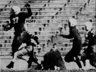 1940 Nebraska-Kansas football photo, Harry Hopp