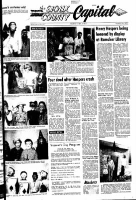 The Sioux County Capital from Orange City, Iowa on October 21, 1971 · Page 1