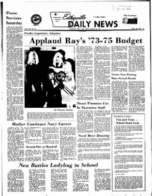Estherville Daily News from Estherville, Iowa on January 26, 1973 · Page 1