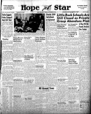 Hope Star from Hope, Arkansas on September 30, 1958 · Page 1