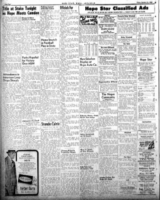Hope Star from Hope, Arkansas on October 31, 1958 · Page 4