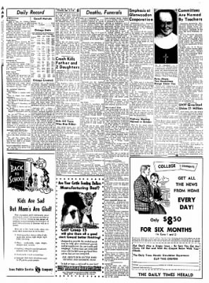 Carrol Daily Times Herald from Carroll, Iowa on September 3, 1959 · Page 6