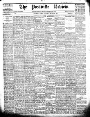 The Postville Review from Postville, Iowa on March 26, 1892 · Page 1