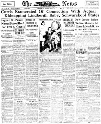 The News from Frederick, Maryland on May 19, 1932 · Page 1