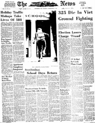 The News from Frederick, Maryland on September 5, 1967 · Page 1