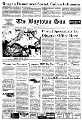 The Baytown Sun from Baytown, Texas on December 2, 1982 · Page 1