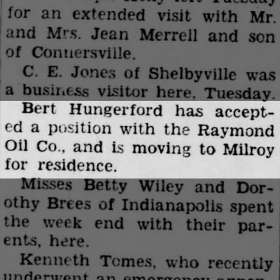 Job Announcement - Bert Hungerford, Rushville Republican (Rushville, IN) 17 Jan 1942, Page 2
