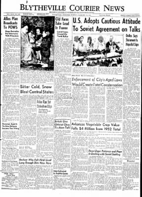The Courier News from Blytheville, Arkansas on December 22, 1953 · Page 1