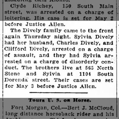 Diveley family arrested Decatur 1927